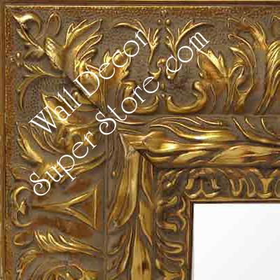 Mr170 1 Ornate Wide Gold Frame Extra Large Custom Wall Mirror Custom Floor Mirror