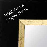MR109-1 Satin Black With Distressed Gold - Extra Large - Custom Framed - Wall Mirror, Leaning Floor Mirrors, Bathroom Mirror