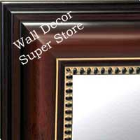 MR118-1 Walnut - Extra Large - Custom Wall Mirror Custom Floor Mirror