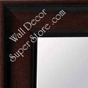 MR136-2 Dark Walnut - Flat Profile Large Custom Wall Mirror Custom Floor Mirror