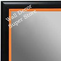 MR1400-5 Black With Orange Lip - Small Custom Wall Mirror