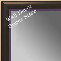 MR1400-6 Black With Purple Lip - Small Custom Wall Mirror