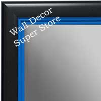 MR1401-1 Black With Blue Lip - Medium Custom Wall Mirror Custom Floor Mirror