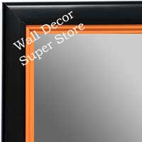 MR1401-5 Black With Orange Lip - Medium Custom Wall Mirror Custom Floor Mirror