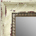 MR1403-1 Distressed White Dogwood- Large Custom Wall Mirror Custom Floor Mirror