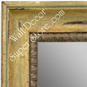 MR1403-2 Distressed Ochre Lily- Large Custom Wall Mirror Custom Floor Mirror