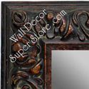 MR1421-3 Ornate Brown - Extra Large Custom Wall Mirror Custom Floor Mirror