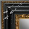 MR1423-3 Distressed Black With Gold - Extra Extra Large Custom Wall Mirror Custom Floor Mirror