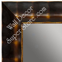 MR1462-1 Walnut With Antique Gold - Large Custom Wall Mirror Custom Floor Mirror