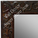 MR1471-3 Antique Red With Leaf And Vine Design - Large Custom Wall Mirror Custom Floor Mirror