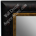 MR1477-3  Dark Coffee Brown With Red Undertone - Large Custom Wall Mirror Custom Floor Mirror