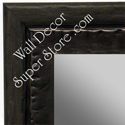 MR1478-1 Metallic Pewter Look With Ebony - Large Custom Wall Mirror Custom Floor Mirror