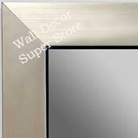 MR1494-2  Brushed Silver With Black - Large Custom Wall Mirror Custom Floor Mirror