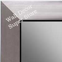 MR1494-4 Brushed Pewter With Black - Large Custom Wall Mirror Custom Floor Mirror
