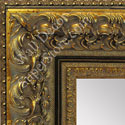 MR1504-4 Thick Ornate Baroque Antique Gold/Black- Extra Extra Large Custom Wall Mirror Custom Floor Mirror