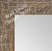 MR1555-5 Distressed Walnut - Medium  Custom Wall Mirror