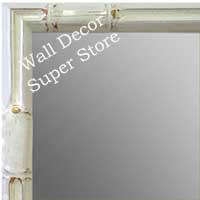 MR1612-2   White Enamel Bamboo Custom Mirror