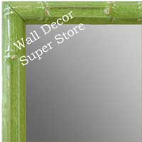 MR1612-3   Green Enamel Bamboo Custom Mirror