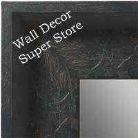 MR1613-2  Distressed Black Custom Wall Mirror