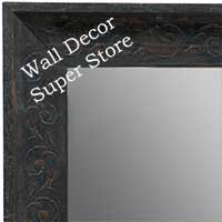 MR1614-2  Distressed Black Custom Wall Mirror