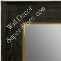 MR1615-1  Distressed Black Custom Wall Mirror