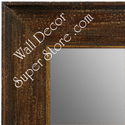 MR1615-4  Distressed Walnut | Custom Wall Mirror