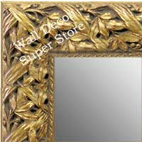 MR1624-1  Gold / Design | Custom Wall Mirror