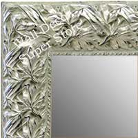 MR1624-2  Silver with Black / Design | Custom Wall Mirror