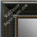 MR1625-2  Distressed Black | Custom Wall Mirror