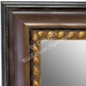MR1635-2  Distressed Walnut | Custom Wall Mirror