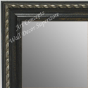 MR1653-2  Distressed Black with Silver | Custom Wall Mirror