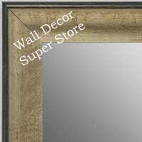 MR1662-2 | Crackle Silver / Black | Custom Wall Mirror