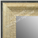MR1663-2 | Crackle Silver / Black | Custom Wall Mirror