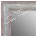 MR1687-3 | Brushed Silver with Red | Custom Wall Mirror