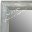 MR1687-5 | Brushed Silver with Green | Custom Wall Mirror