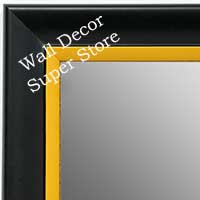 MR1690-2 | Black / Yellow | Custom Wall Mirror