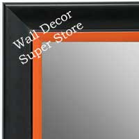 MR1690-3 | Black / Orange | Custom Wall Mirror