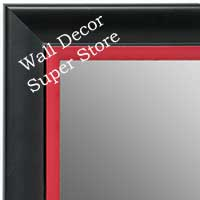 MR1690-4 | Black / Red | Custom Wall Mirror