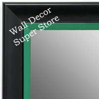 MR1690-5 | Black / Green | Custom Wall Mirror