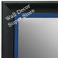 MR1690-6 | Black / Blue | Custom Wall Mirror