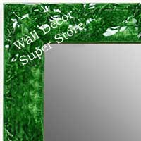MR1692-3 | Glossy Green / Design | Custom Wall Mirror | Decorative Framed Mirrors | Wall D�cor