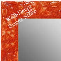 MR1692-4 | Glossy Orange / Design | Custom Wall Mirror | Decorative Framed Mirrors | Wall D�cor
