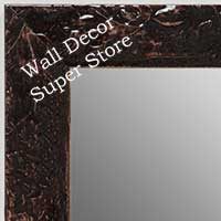 MR1692-5 | Glossy Chocolate / Design | Custom Wall Mirror | Decorative Framed Mirrors | Wall D�cor
