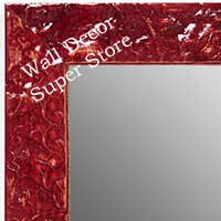 MR1692-7 | Glossy Red / Design | Custom Wall Mirror | Decorative Framed Mirrors | Wall D�cor