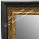 MR1697-1 | Distressed Black / Gold | Custom Wall Mirror | Decorative Framed Mirrors | Wall D�cor