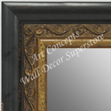 MR1698-1 | Distressed Black / Gold | Custom Wall Mirror | Decorative Framed Mirrors | Wall D�cor