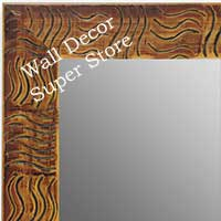MR1702-5 | Walnut / Black / Design | Custom Wall Mirror | Decorative Framed Mirrors | Wall D�cor