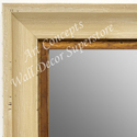 MR1707-2 | Distressed White Scoop Moulding | Custom Wall Mirror | Decorative Framed Mirrors | Wall D�cor