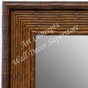 MR1709-1 | Pecan Rattan | Custom Wall Mirror | Decorative Framed Mirrors | Wall D�cor