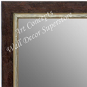 MR1720-2 | Distressed Red / Silver | Custom Wall Mirror | Decorative Framed Mirrors | Wall D�cor